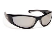 BOBS™ Floating Polarized Sunglasses FP69-Black Silver Mirror