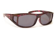 BOBS™ Over The Glass Floating Frame Sunglasses OTGFPS Purple Tortoise